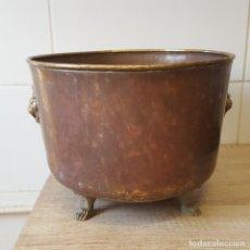 Antigüedades: MACETERO DE COBRE. Lote 116466795