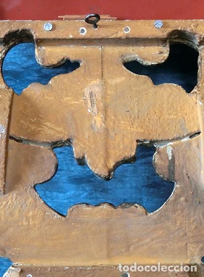 Antigüedades: ANTIGUA Y PRECIOSA CORNUCOPIA - ESPEJO MADERA TALLADA - PAN DE ORO - RECIBIDOR - TEMÁTICA FLORAL - Foto 29 - 116473631
