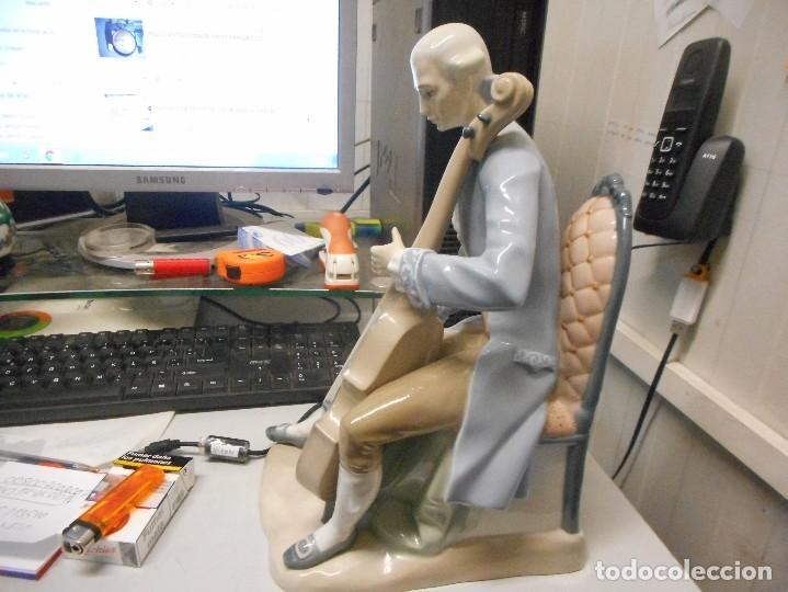 Antigüedades: gran figura lladro porcelana epoca tang musico epoca 34 cm alto - Foto 3 - 116477523
