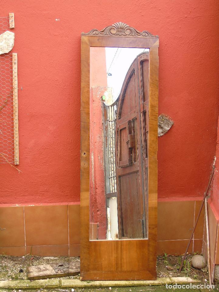 Antigüedades: ANTIGUO ESPEJO DE PUERTA DE ARMARIO. - Foto 2 - 116480891