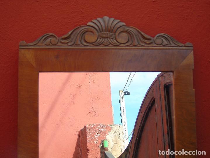 Antigüedades: ANTIGUO ESPEJO DE PUERTA DE ARMARIO. - Foto 3 - 116480891