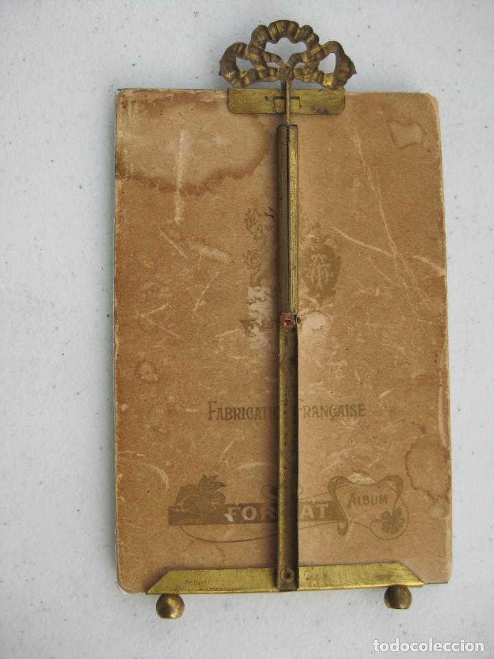 Antigüedades: PORTAFOTO DE CRISTAL BISELADO 16,5 X 11 CMS CON COPETE - Foto 5 - 116520175