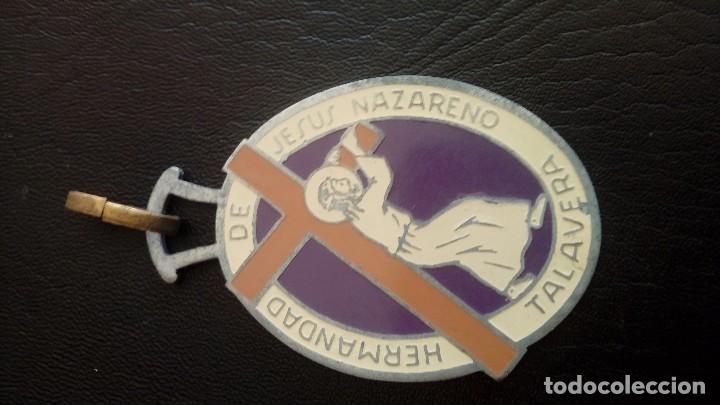 MEDALLA HERMANDAD JESUS NAZARENO TALAVERA (Antigüedades - Religiosas - Medallas Antiguas)