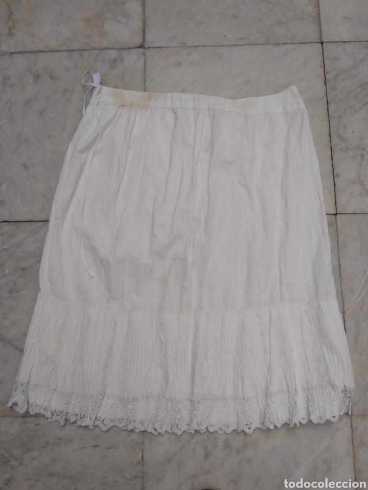 ENAGUAS SIGLO XIX BORDADAS A MANO (Antigüedades - Moda y Complementos - Mujer)
