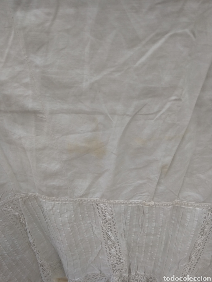 Antigüedades: Enaguas siglo XIX bordadas a mano - Foto 6 - 116522571