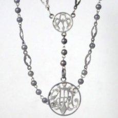Antigüedades: ROSARIO DE PLATA. Lote 116538563