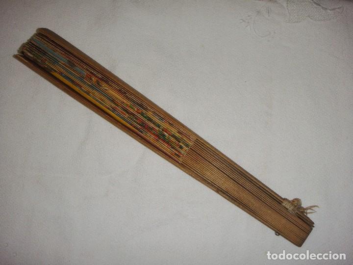 Antigüedades: Antiguo Abanico. Principios S.XX. Motivo Taurino y Feria de Abril. Firmado Rubio, Sevilla. - Foto 5 - 127204783