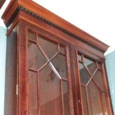 Antigüedades: PRECIOSA VITRINA MADERA NOGAL. Lote 110569691