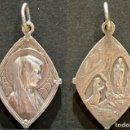 Antigüedades: PRECIOSA MEDALLA EN PLATA DE LA VIRGEN DE LOURDES. Lote 78217377