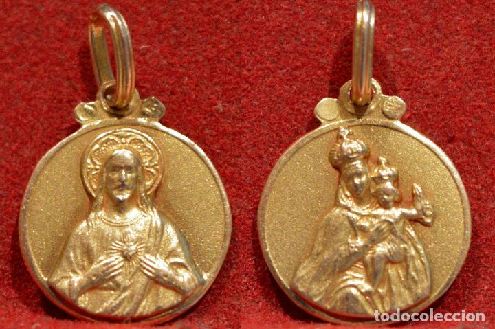 89180bfed 3 fotos ANTIGUA PEQUEÑA MEDALLA ESCAPULARIO BAÑO EN ORO BAUTISMO  (Antigüedades - Religiosas - Medallas Antiguas) ...