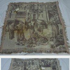 Antigüedades: SIGLO XIX-XX. ANTIGUO PAÑO TECNICA TAPIZ DE TEMA ORIENTAL. . Lote 116568327