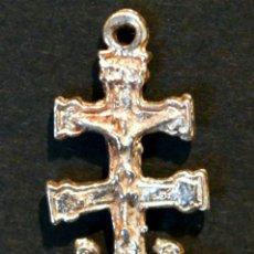 Antigüedades: CRUZ DE CARAVACA EN PLATA. Lote 48669890