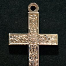 Antigüedades: ANTIGUA CRUZ COLGANTE EN ALPACA FLOR DE LIS FRANCIA. Lote 110632935