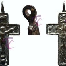 Antigüedades: ANTIGUA CRUZ COLGANTE EN BRONCE. Lote 114628083