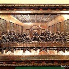Antigüedades: CUADRO DE LA ULTIMA CENA DE JESÚS MEDIDAS 104X 67CM. Lote 116592311