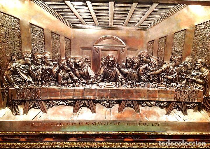 Antigüedades: Cuadro De La Ultima Cena De Jesús Medidas 104X 67CM - Foto 2 - 116592311