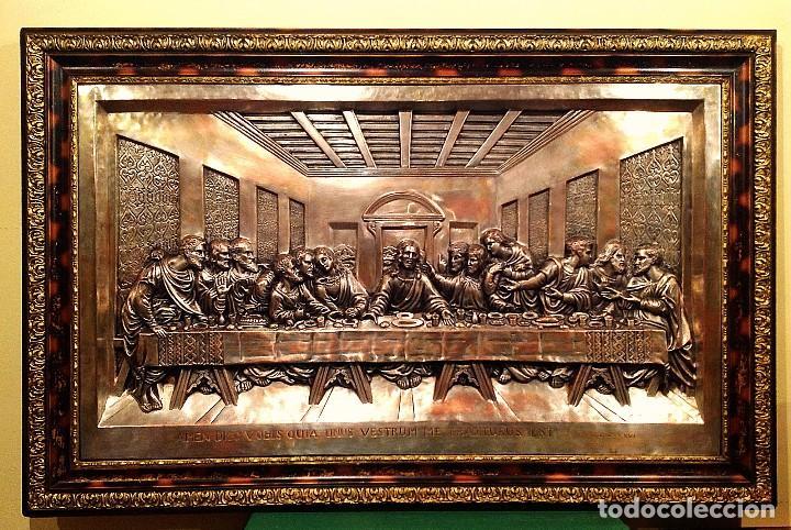 Antigüedades: Cuadro De La Ultima Cena De Jesús Medidas 104X 67CM - Foto 6 - 116592311