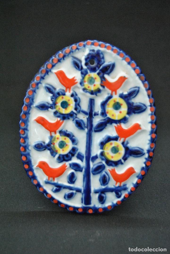 PLACA DE CERAMICA DE SARGADELOS PERFECTO ESTADO. FIRMADA SARGADELOS (Antigüedades - Porcelanas y Cerámicas - Sargadelos)