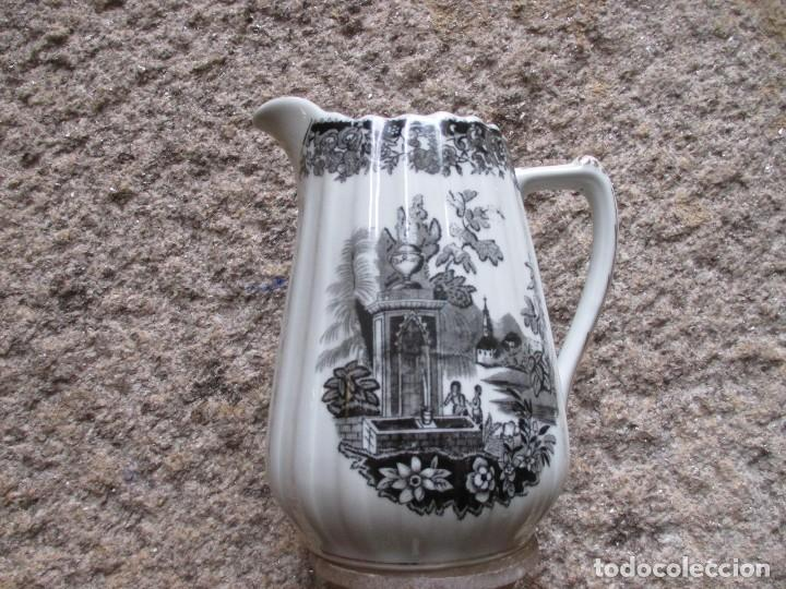 JARRA PORCELANA CAFE O TE DE SANTA CLARA VIGO, COLECCION ' OLD ENGLAND ' 20CM +INFO (Antigüedades - Porcelanas y Cerámicas - Santa Clara)