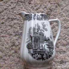 Antigüedades: JARRA PORCELANA CAFE O TE DE SANTA CLARA VIGO, COLECCION ' OLD ENGLAND ' 20CM +INFO. Lote 116599863