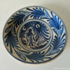 Antigüedades: PLATO CERÁMICA TALAVERA GOLONDRINAS, SIGLO XVIII. Lote 116612231