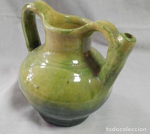 Antigüedades: PRECIOSA ACEITERA DE BARRO ESMALTADA - Foto 2 - 116621711