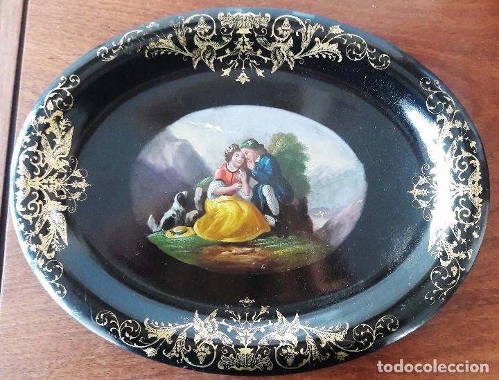 Antigüedades: Bandeja isabelina. Siglo XIX - Foto 2 - 113365579
