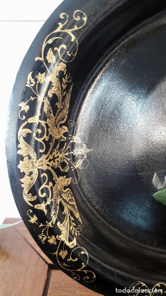 Antigüedades: Bandeja isabelina. Siglo XIX - Foto 6 - 113365579