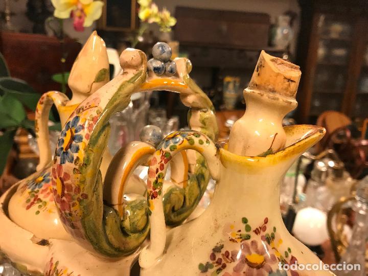 Antigüedades: PRECIOSA VINAGRERA DE CERÁMICA - Foto 12 - 116635375