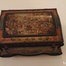 Antigüedades: CAJA DE BISCUITS INGLESA , MODERNISTA O MODERN STYLE . FINALES DEL XIX . ÚNICA. Lote 116653035