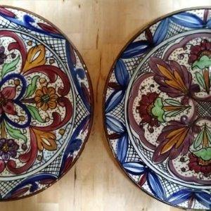 Conjunto de 2 preciosos platos decorativos grandes de 36cm - platos presentacion