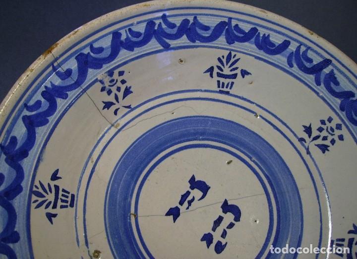 Antigüedades: GRAN PLATO CERÁMICA ARAGONESA DE MUEL XIX - Foto 3 - 116662319