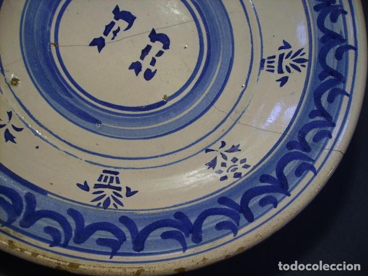 Antigüedades: GRAN PLATO CERÁMICA ARAGONESA DE MUEL XIX - Foto 5 - 116662319