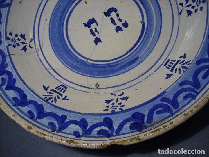 Antigüedades: GRAN PLATO CERÁMICA ARAGONESA DE MUEL XIX - Foto 6 - 116662319