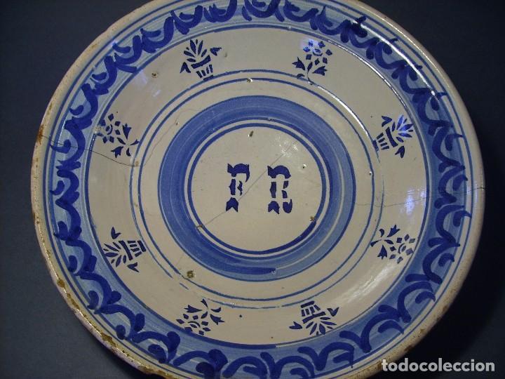 Antigüedades: GRAN PLATO CERÁMICA ARAGONESA DE MUEL XIX - Foto 7 - 116662319