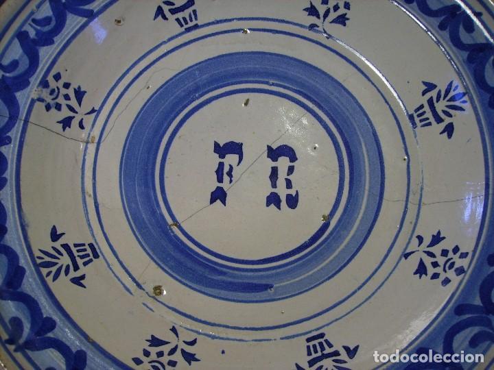 Antigüedades: GRAN PLATO CERÁMICA ARAGONESA DE MUEL XIX - Foto 8 - 116662319