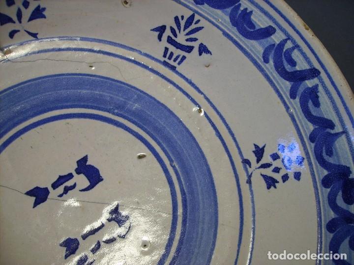Antigüedades: GRAN PLATO CERÁMICA ARAGONESA DE MUEL XIX - Foto 10 - 116662319