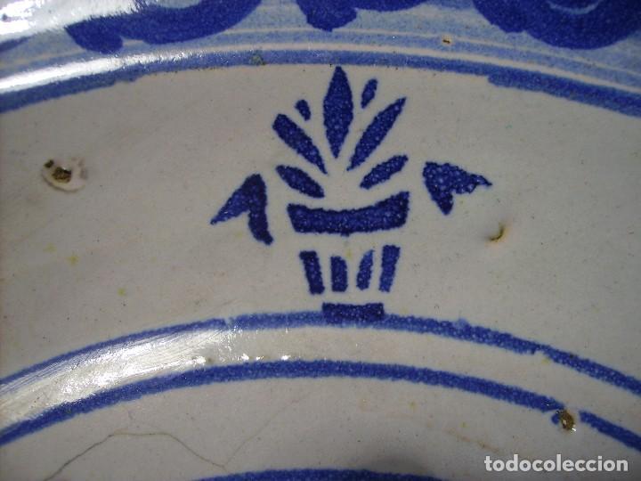 Antigüedades: GRAN PLATO CERÁMICA ARAGONESA DE MUEL XIX - Foto 12 - 116662319
