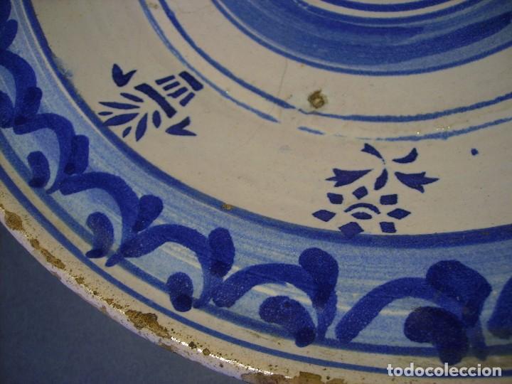Antigüedades: GRAN PLATO CERÁMICA ARAGONESA DE MUEL XIX - Foto 13 - 116662319