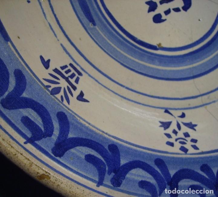 Antigüedades: GRAN PLATO CERÁMICA ARAGONESA DE MUEL XIX - Foto 14 - 116662319