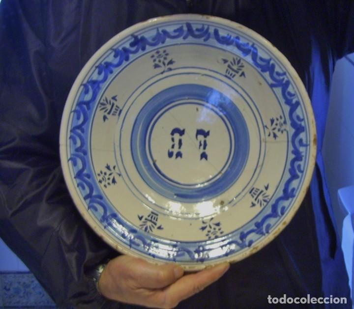 Antigüedades: GRAN PLATO CERÁMICA ARAGONESA DE MUEL XIX - Foto 17 - 116662319