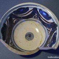 Antigüedades: CUENCO DE CERÁMICA ARAGONESA ( MUEL XVII ). Lote 116666535