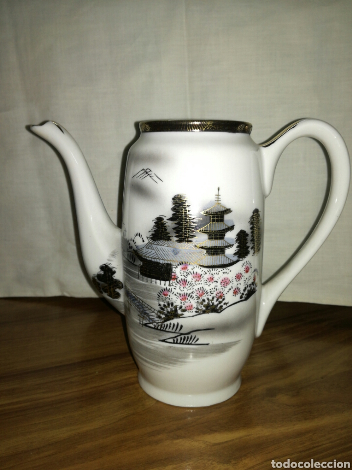 TETERA O CAFETERA DE PORCELANA JAPONESA (Antigüedades - Porcelana y Cerámica - Japón)