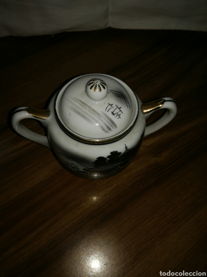 Antigüedades: Azucarero porcelana Japonesa - Foto 3 - 116676628