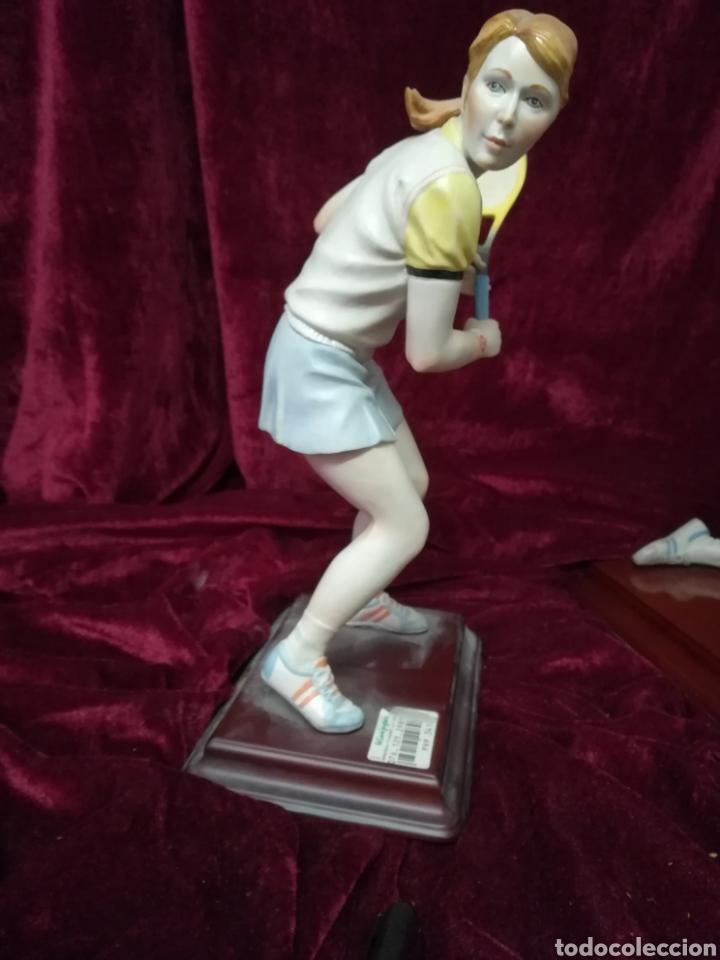 Antigüedades: Pareja tenistas porcelana algora en perfecto estado - Foto 2 - 116676912