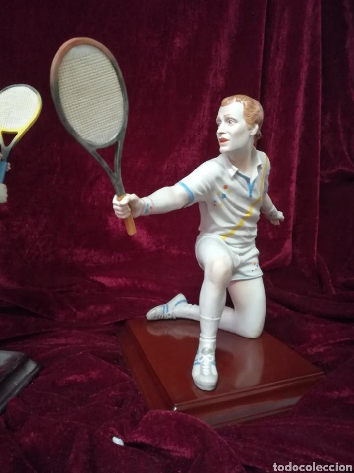 Antigüedades: Pareja tenistas porcelana algora en perfecto estado - Foto 3 - 116676912