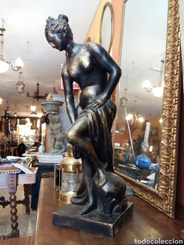 GRAN ESCULTURA DE BRONCE AÑO 1891 (Antigüedades - Hogar y Decoración - Figuras Antiguas)