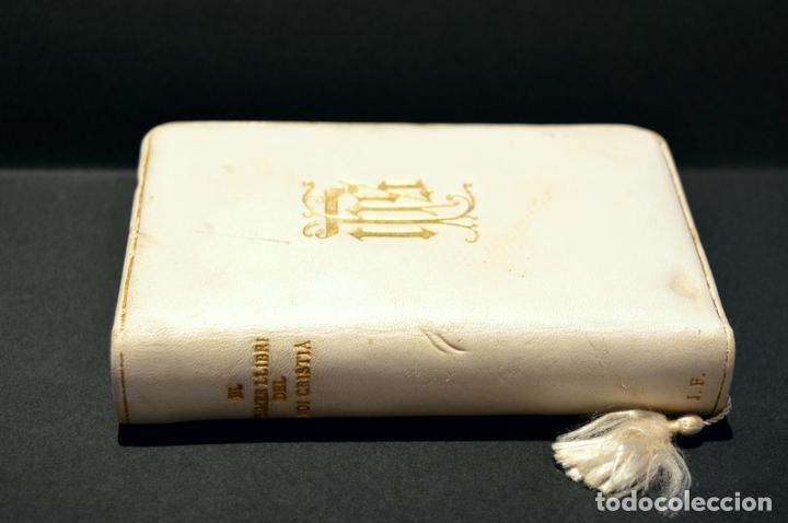Antigüedades: DEVOCIONARIO EL PRIMER LLIBRE DEL NOI CRISTIA 1926 CATALAN ENCUADERNACION EN PIEL - Foto 6 - 88525612