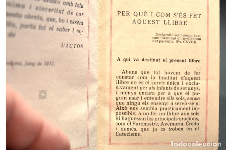 Antigüedades: DEVOCIONARIO EL PRIMER LLIBRE DEL NOI CRISTIA 1926 CATALAN ENCUADERNACION EN PIEL - Foto 8 - 88525612
