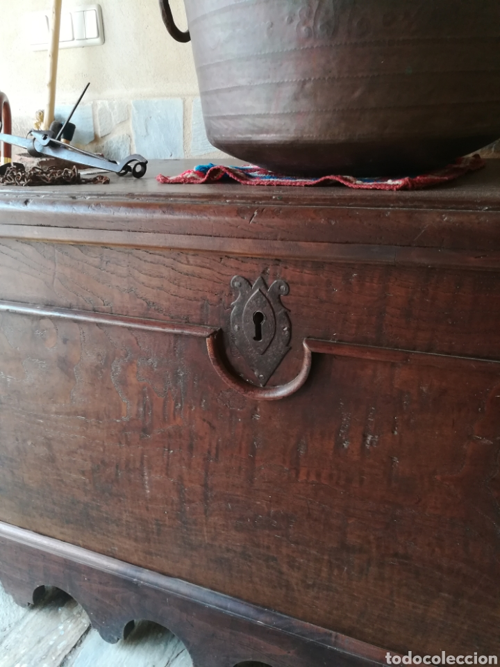 Antigüedades: Arca Maragata de castaño siglo XVIII - Foto 5 - 97326612